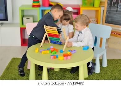 Children play in the children's room.