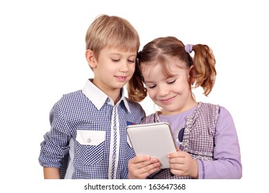 children at play with a tablet pc
