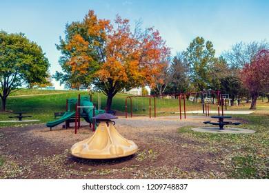 Children Playground in Autumn