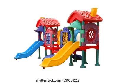Children Playground equipment (with clipping path) isolated on white background