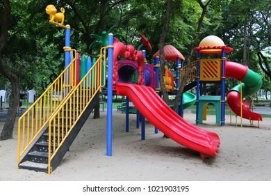 Children playground at a park