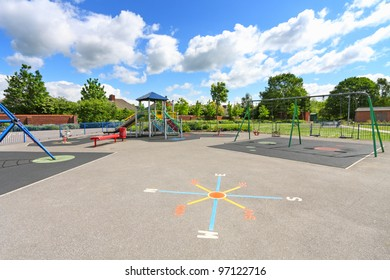 Children playground in summer