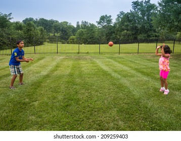 Children Playing with Ball in a Park