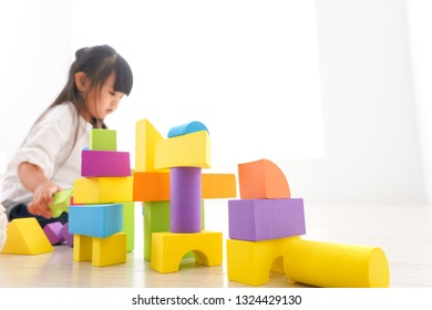 Children playing in the block