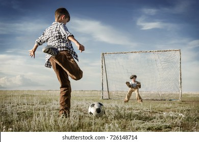 Children are playing football