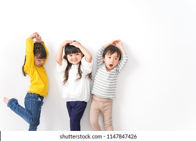 Children playing with friends