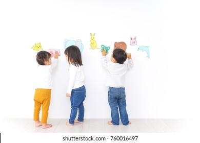 Children playing at kindergarten