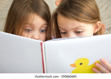 Children reading a story