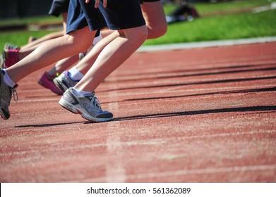 Children in a running race