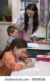 Children at school - approbation