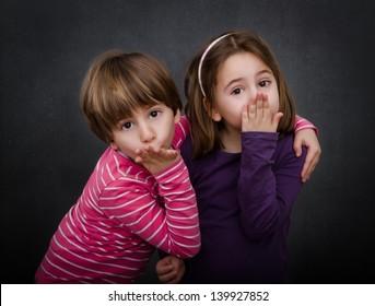 children send kisses