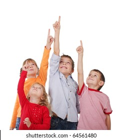 Children are showing up isolated on white
