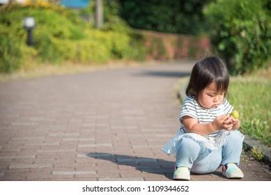 Children sitting on the ground