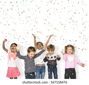Children Smiling Happiness Friendship Celebration