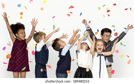 Children Smiling Happiness Friendship Togetherness Celebration Studio Portrait
