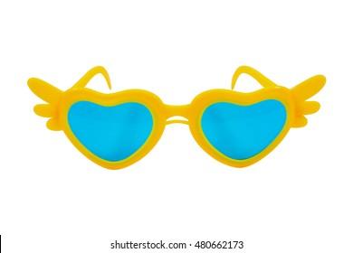 Children sunglasses isolated on white background