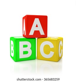 Children Toy Blocks isolated on white background