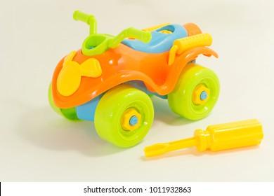 Children Toy - orange quadricycle