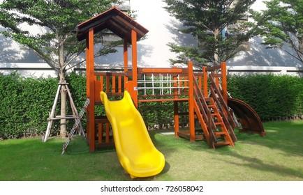 children toy slider playing