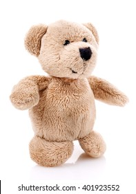 Children toy,Soft teddy bear  isolated on white background