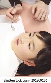 Children undergoing dental treatment