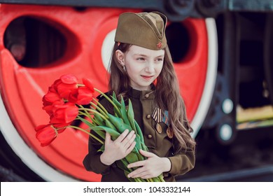 """Children in uniform. Soldiers, defenders of the Fatherland. """"I remember, I'm proud!"""". Military history. Defender of Fatherland. Military theme. Military uniform. Victory Day. 9th May."""