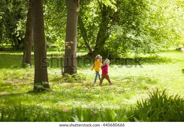Children walk