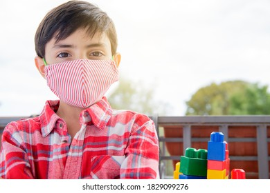 Children wearing face mask kids need to wear it protection