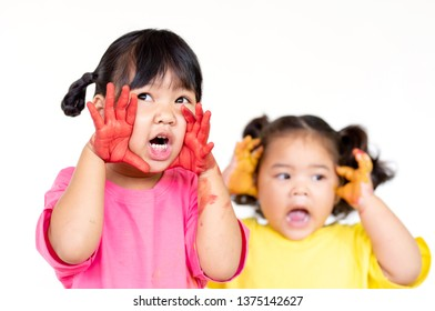The children were surprised and shouted glad