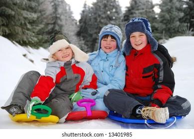 Children winter portrait