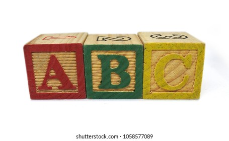 Children Wooden Letter ABC Block Toy