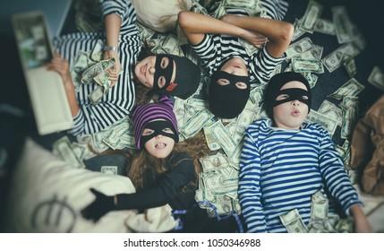 children's Bank robbery