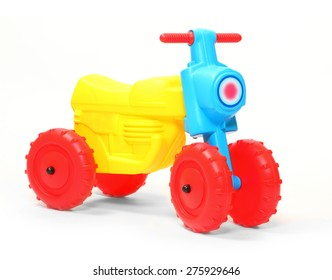 Children's bicycle on a white background.