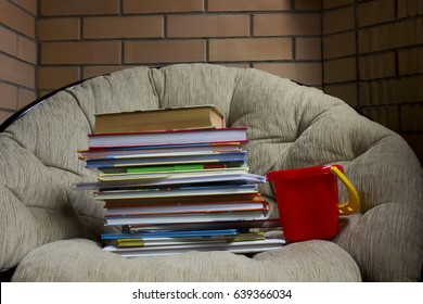 children's books on the chair