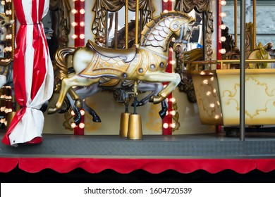 Children's carrousel with a horse