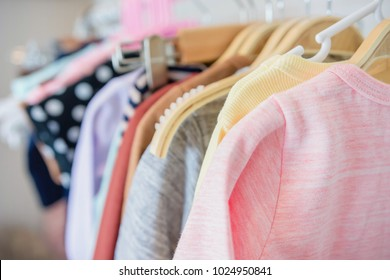 Children's Cloth Rack, Selective focus at front
