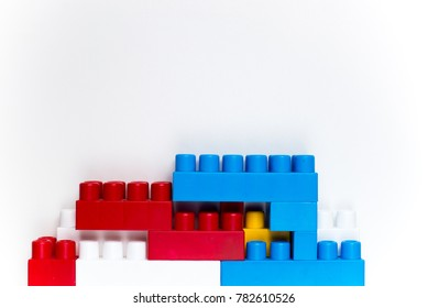 the children's constructor on a white background