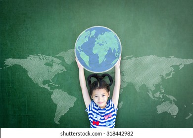 Children's educational success and human rights concept