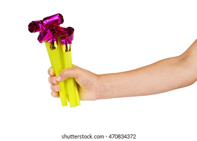 Children's hand and toy