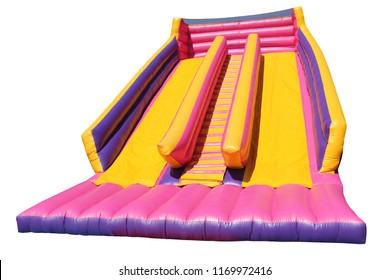 Childrens Inflatable Bouncy Castle Slides with Steps.
