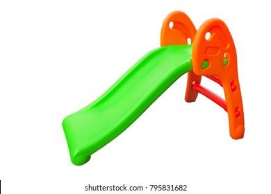 Children's kids slide for playground indoor outdoor garden toy, isolated on white
