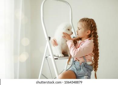Children's love of the dog