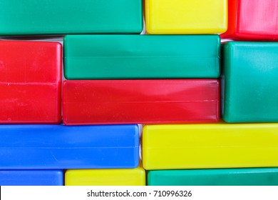 Children's play cubes of different color categories