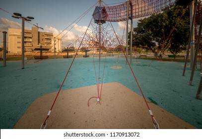 Children's playground in a new residential area of Ashkelon. Israel
