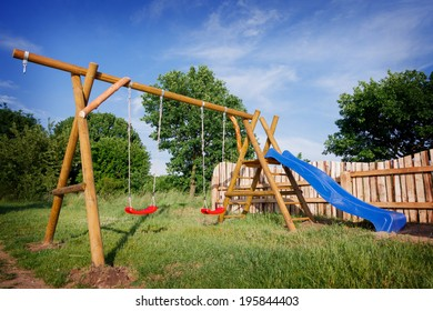Children's playground on a summer day