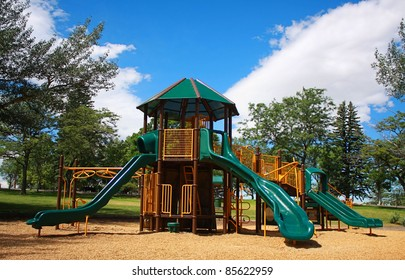 Children's Playground on a Summer Day