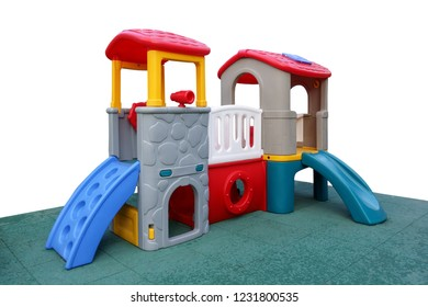 Children's playground on a white background. Isolated.