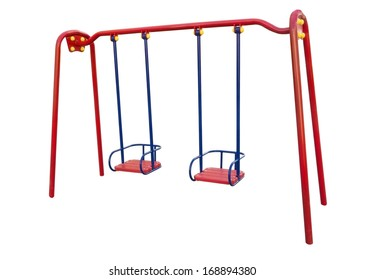 Children's playground on a white background