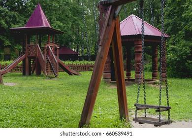 Children's playground swing