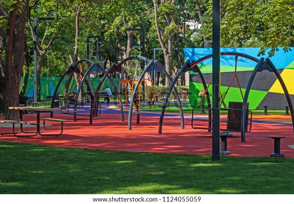 childrens-playground-swings-places-rest-